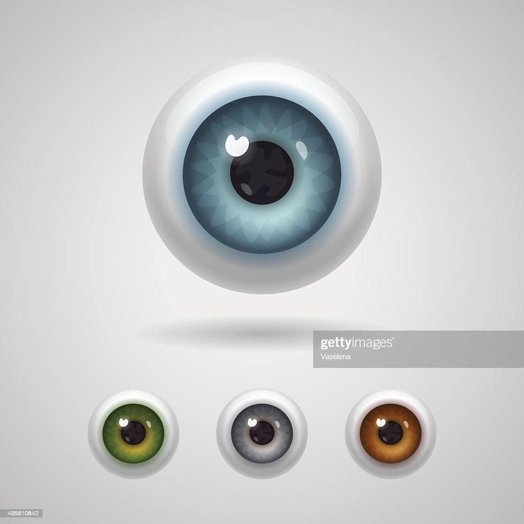 Eyeballs with big irises