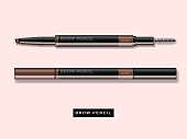Eyebrow pencil mockup