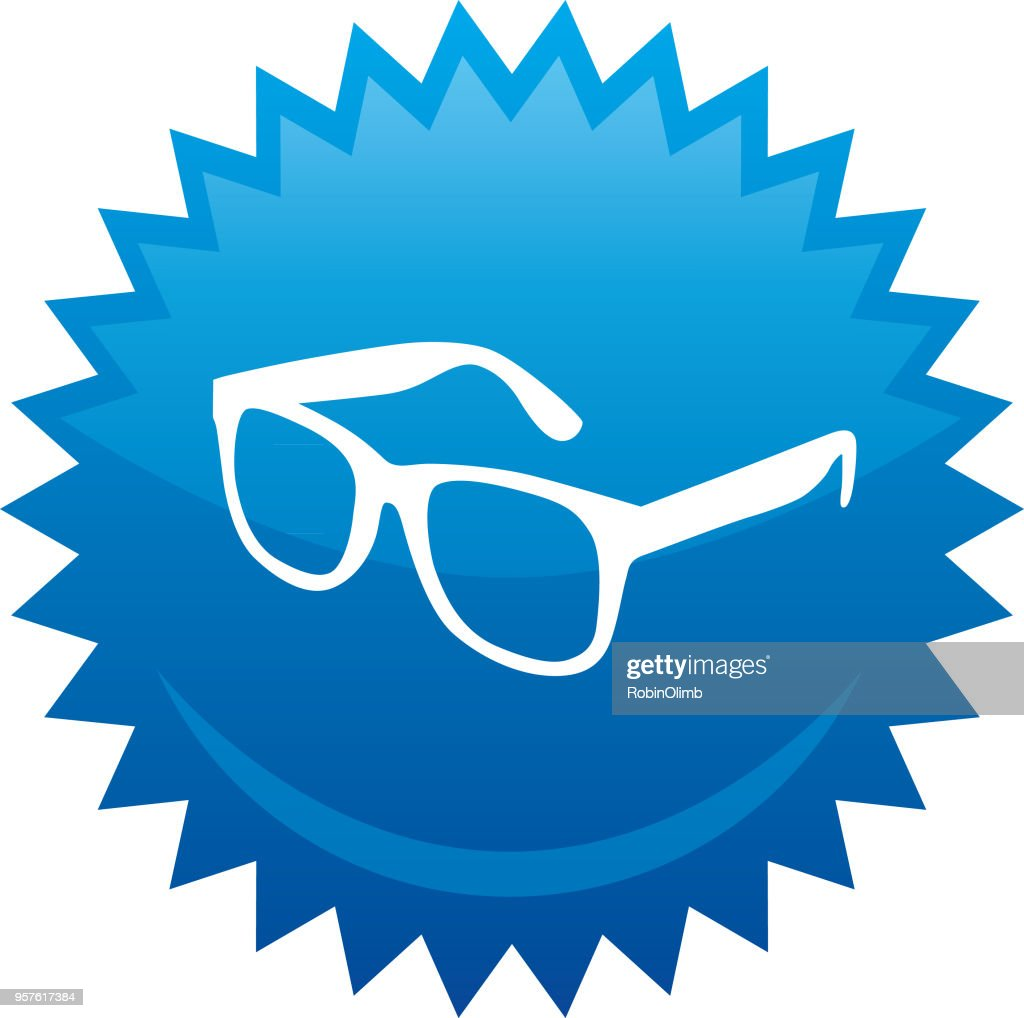 Eyeglasses Emblem : stock illustration