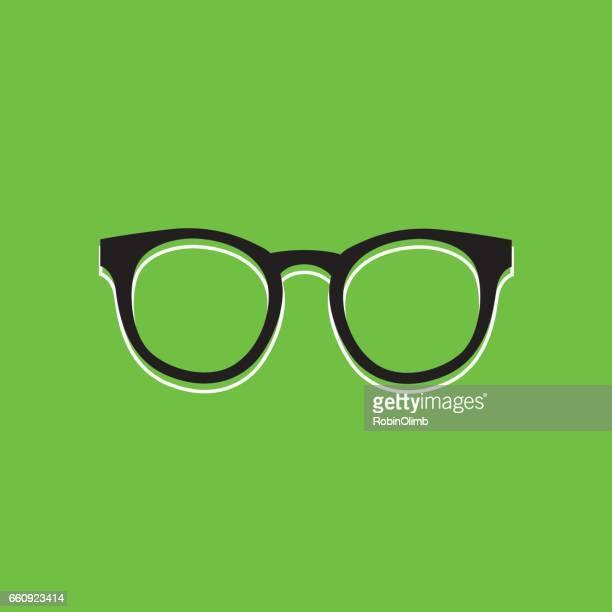 Eyeglasses Green icon