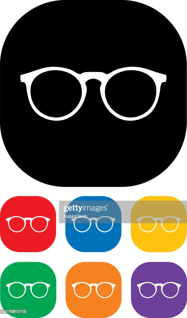 Eyeglasses Icon Set 3 : stock illustration