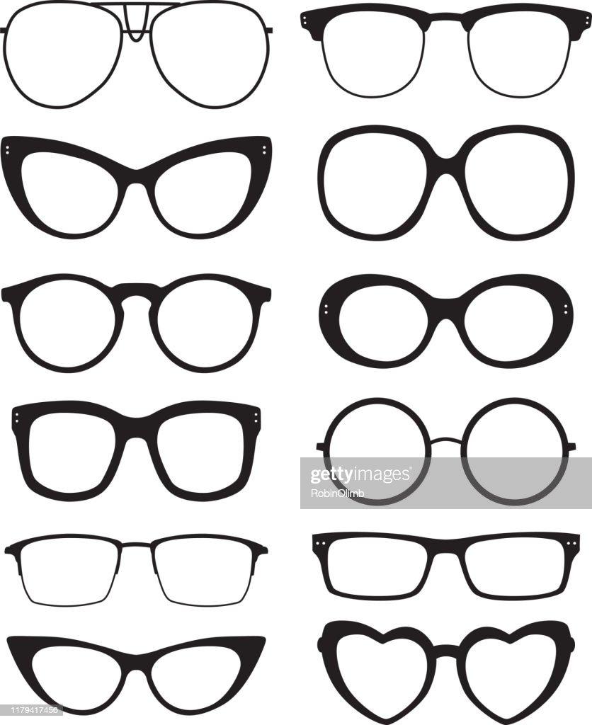 Ícones dos Eyeglasses : Ilustração