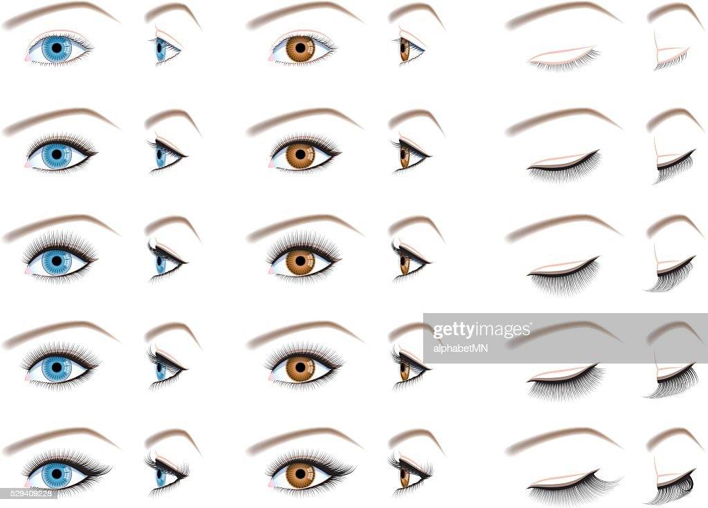 eyelash extensions, false eyelashes type