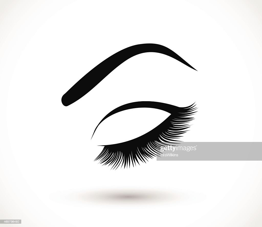 Eyelashes and eyebrows vector illustration