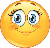 Eyelashes emoticon