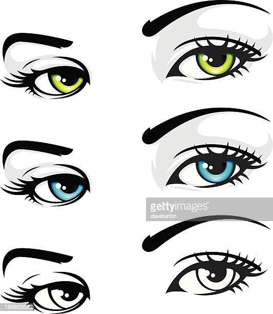stockillustraties, clipart, cartoons en iconen met eyes like us - sensualiteit