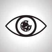 Eyes looking online network