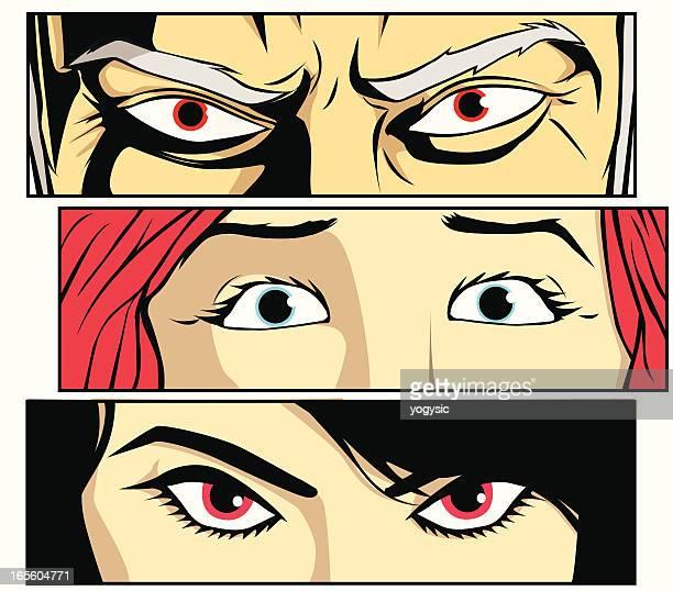 illustrations, cliparts, dessins animés et icônes de yeux seul - doigt dhonneur