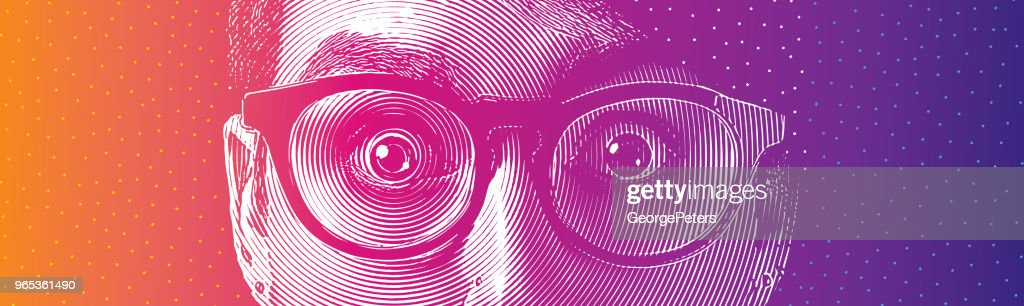 Eyes shock : stock illustration
