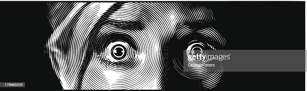 Eyes Terrified : stock illustration