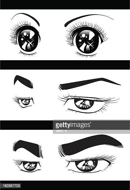 ilustrações, clipart, desenhos animados e ícones de os olhos - sobrancelha