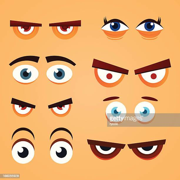 eyes - anger stock illustrations