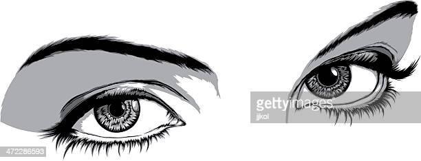 eyes - eye make up stock illustrations, clip art, cartoons, & icons