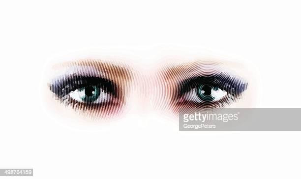 ilustraciones, imágenes clip art, dibujos animados e iconos de stock de los ojos - maquillaje para ojos