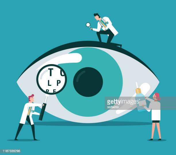 eyesight - human eye stock illustrations
