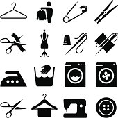 Fabric And Textiles Icons - Black Series