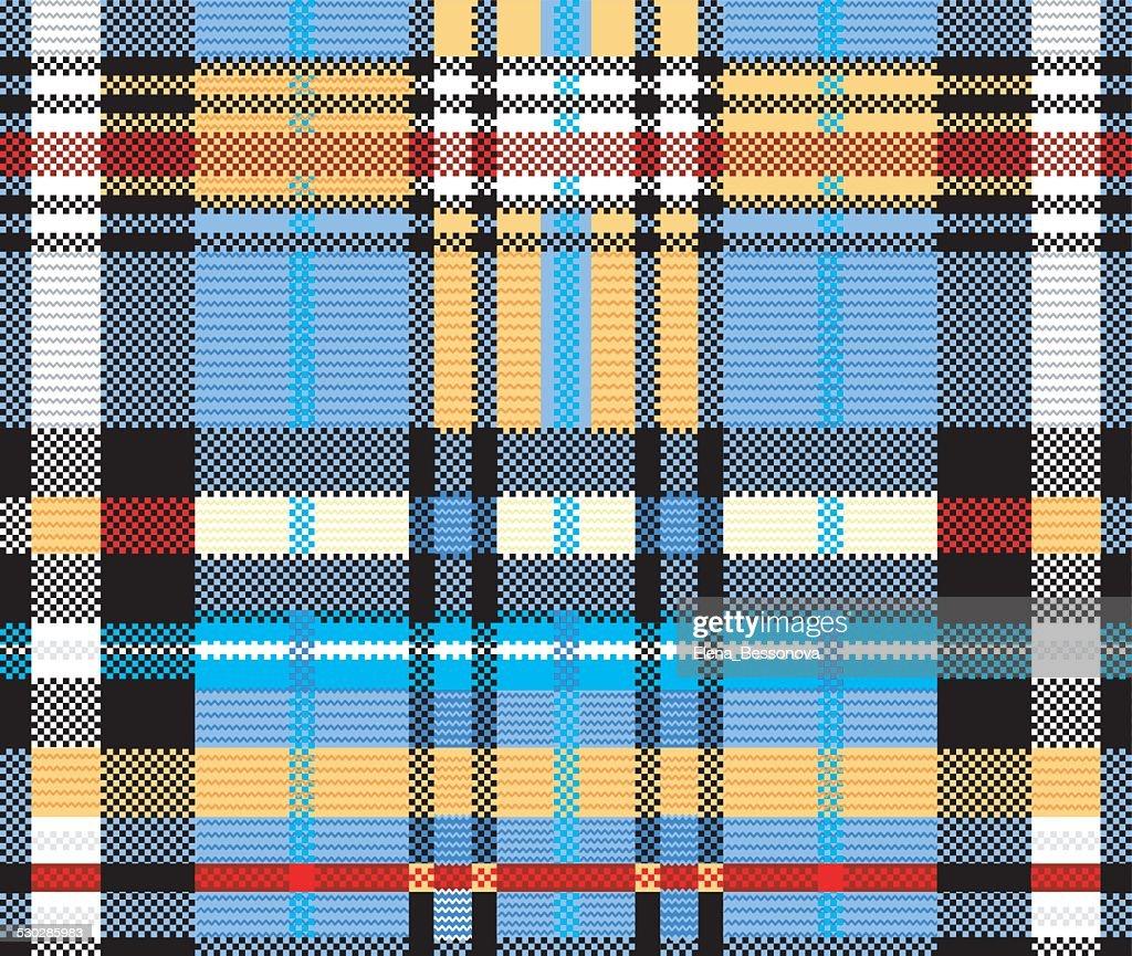Fabric in multicolored squares