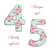 http://www.istockphoto.com/vector/fabric-retro-numbers-in-shabby-chic-style-gm685433050-125996659