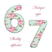 http://www.istockphoto.com/vector/fabric-retro-numbers-in-shabby-chic-style-gm685433200-125996663
