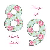 http://www.istockphoto.com/vector/fabric-retro-numbers-in-shabby-chic-style-gm685433310-125996667