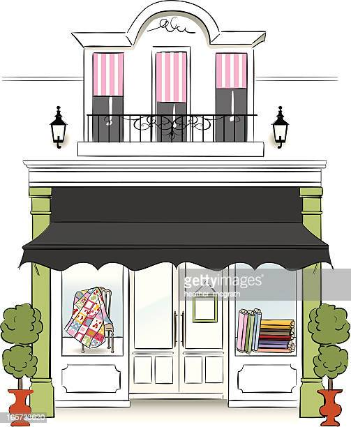 fabric store - awning stock illustrations, clip art, cartoons, & icons