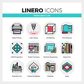 Fabrication Lab Linero Icons Set