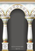 Fabulous ancient arch in oriental style