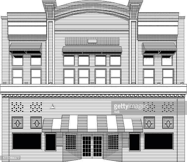 ilustrações de stock, clip art, desenhos animados e ícones de fachada do edifício - fachada supermercado