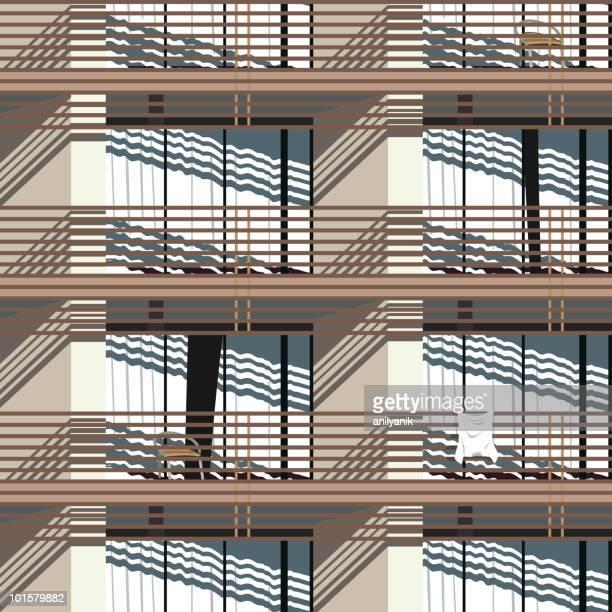 facade (seamless pattern)
