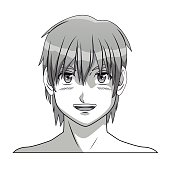 face boy anime manga comic smile young