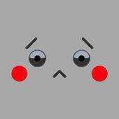 Face Cartoon Of Sadness Illustration