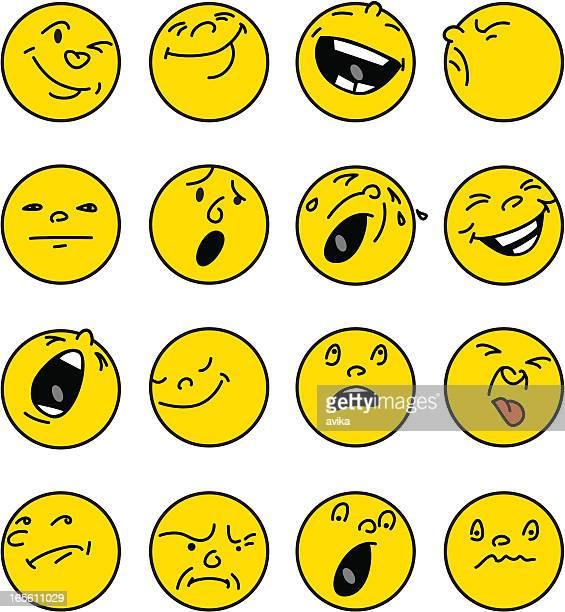 Face emotions buttons