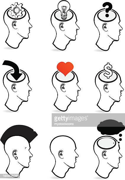 face icons - balding stock illustrations, clip art, cartoons, & icons