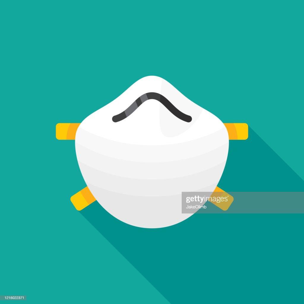 フェイスマスクアイコン フラット2 : ストックイラストレーション