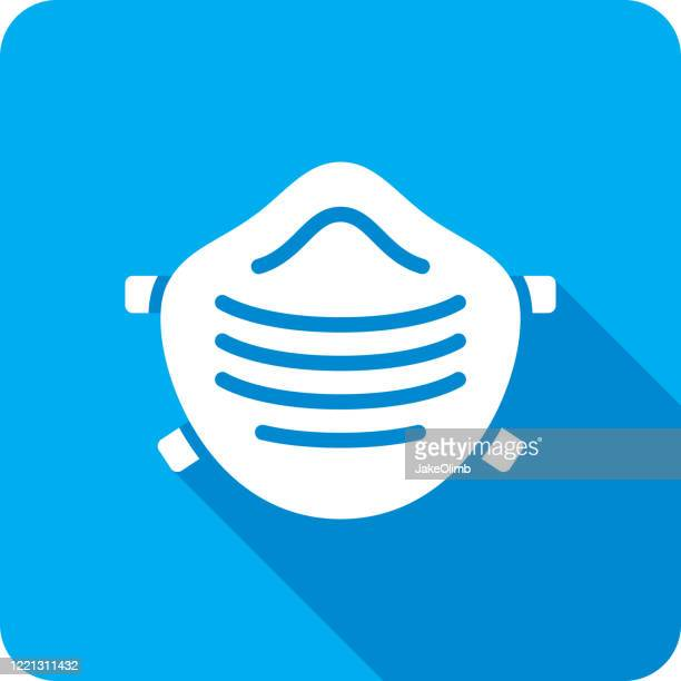 face mask icon silhouette - n95 respirator mask stock illustrations