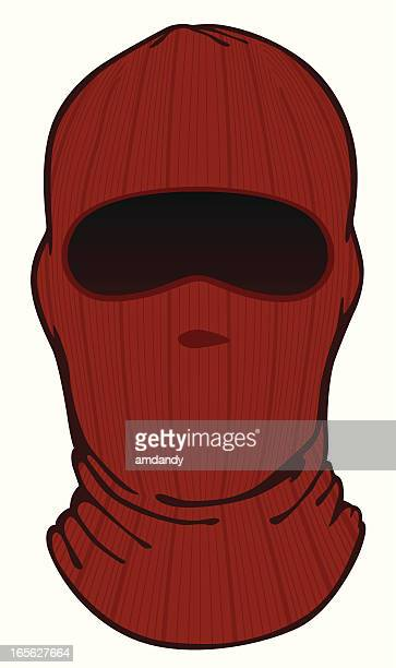 face mask knit - balaclava stock illustrations