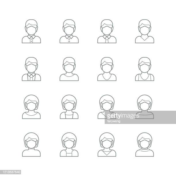 face mask,  medical mask icon - one man only stock illustrations