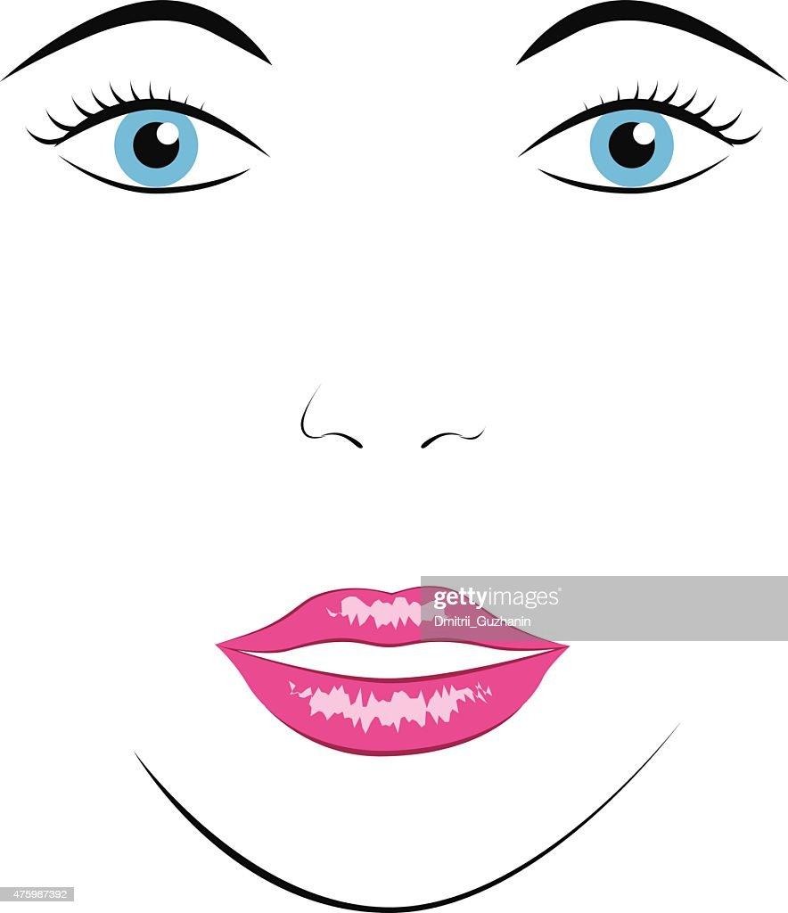 Face of beautiful woman