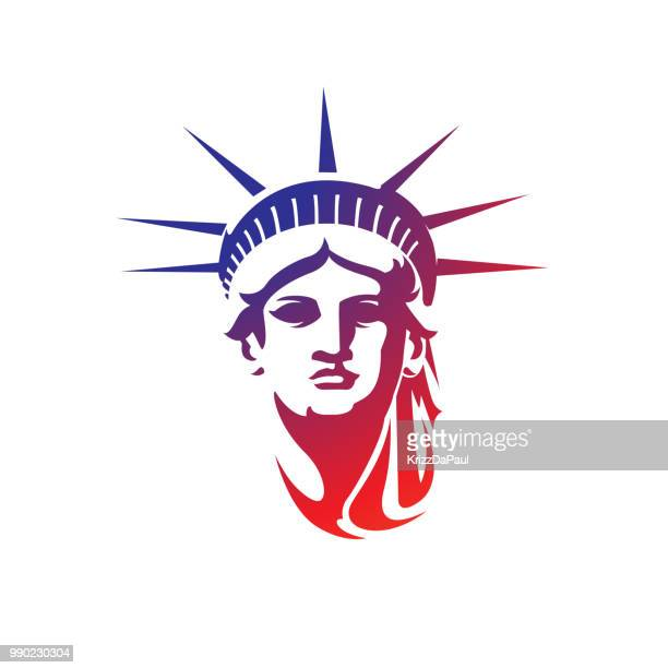 face of librty - liberty island stock illustrations, clip art, cartoons, & icons