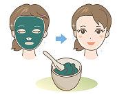 Face Pack - Mud or seaweed - Natural materials