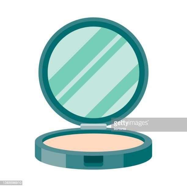 透明な背景上の顔の粉のアイコン - 白粉点のイラスト素材/クリップアート素材/マンガ素材/アイコン素材
