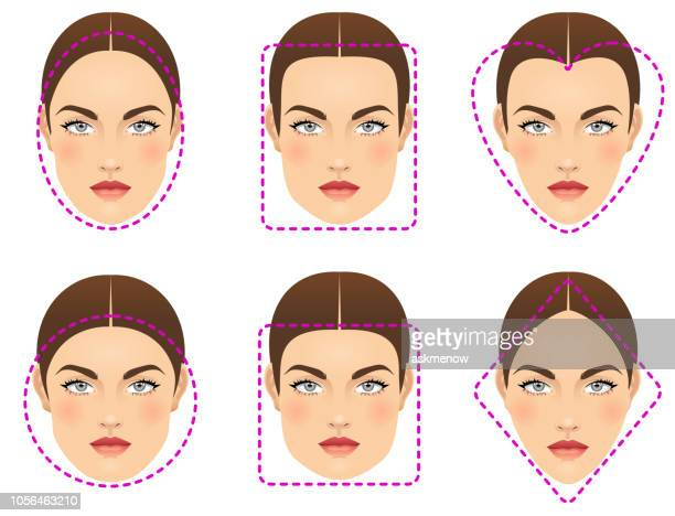 face shapes - human face stock illustrations