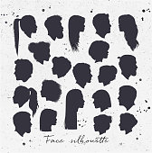 Face silhouettes