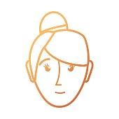 face woman  vector illustratio