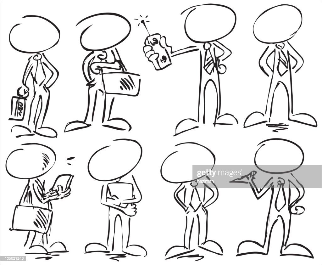 faceless businessman characters