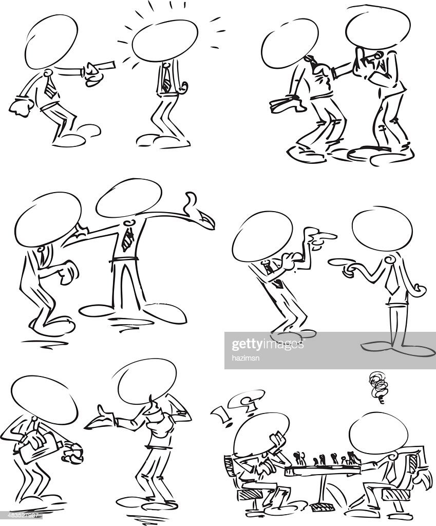 Faceless Businessmen chatting