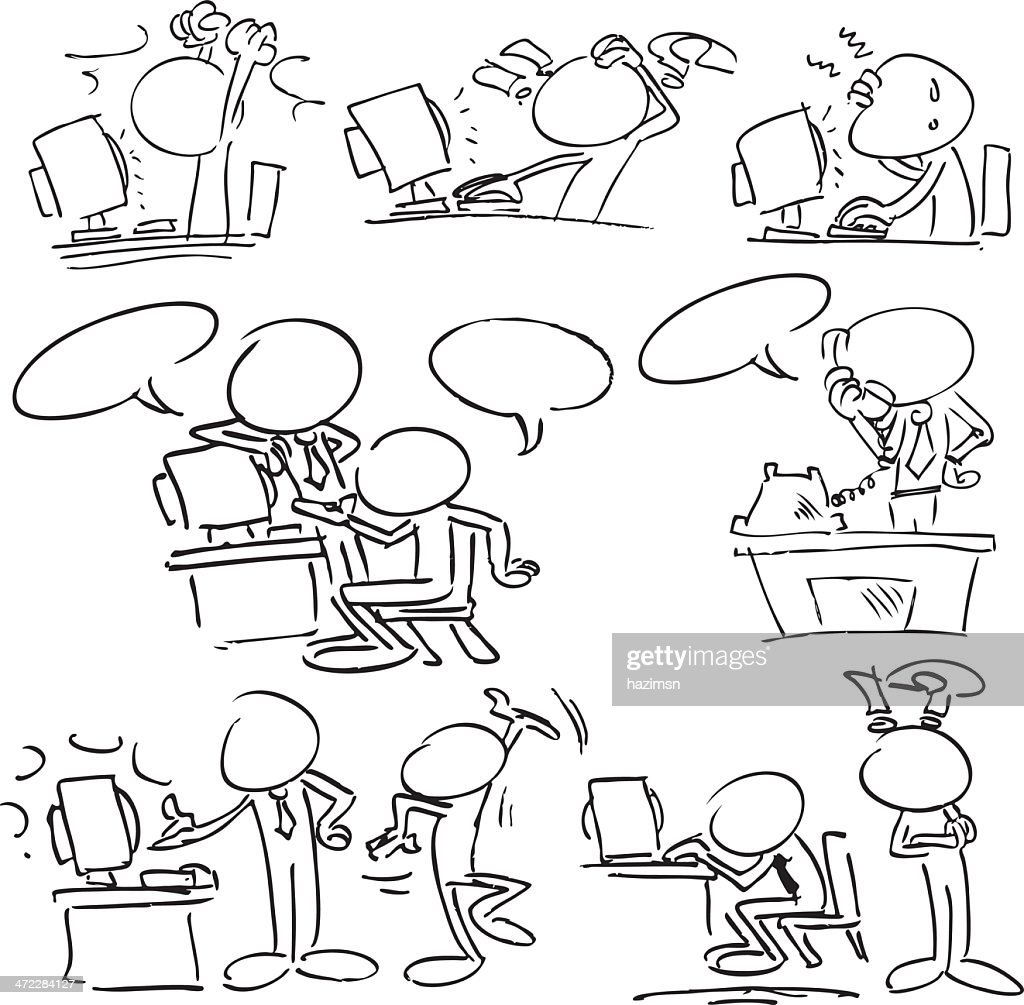 Faceless Characters with Computers