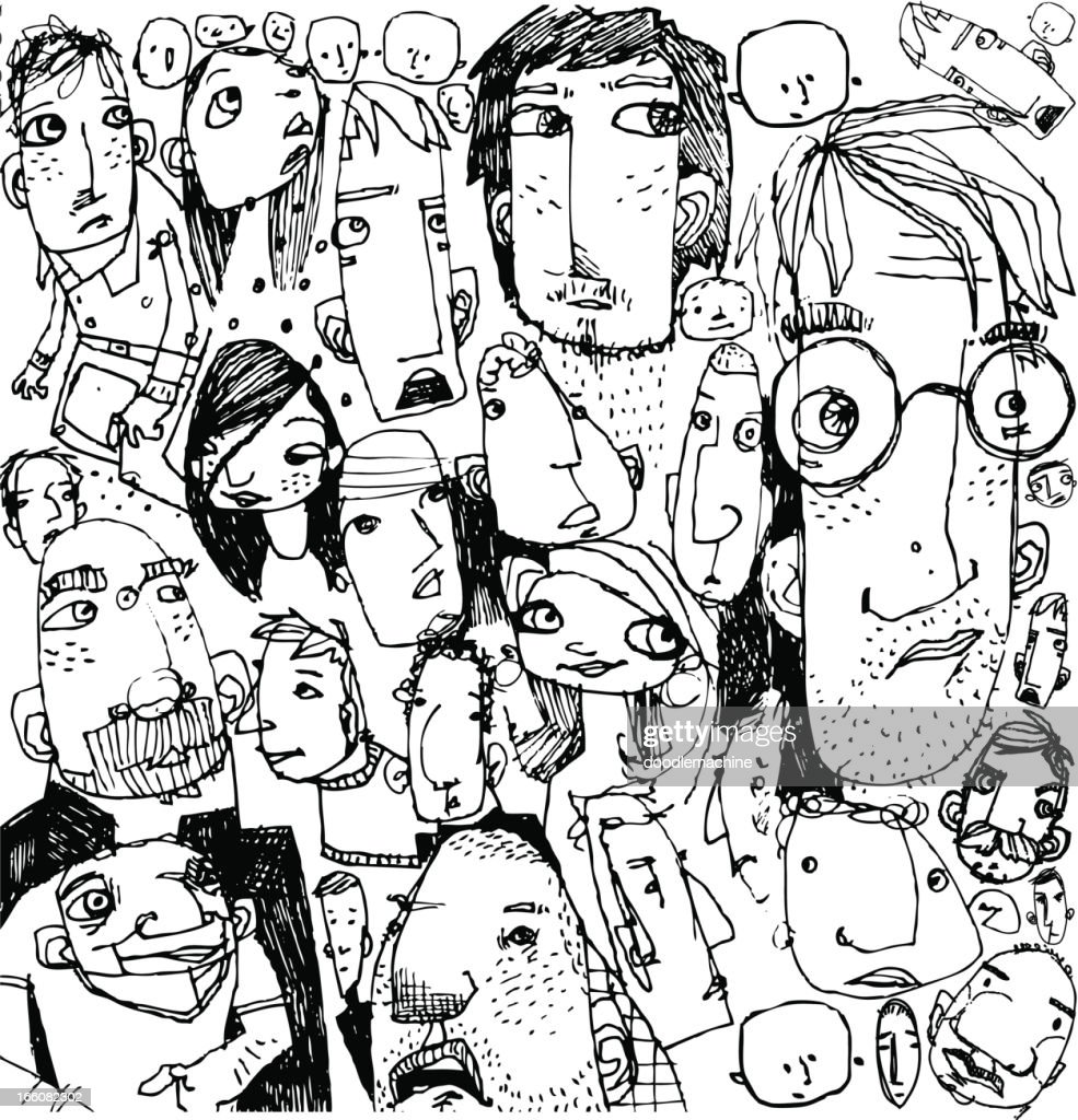 Faces Background : Stock Illustration