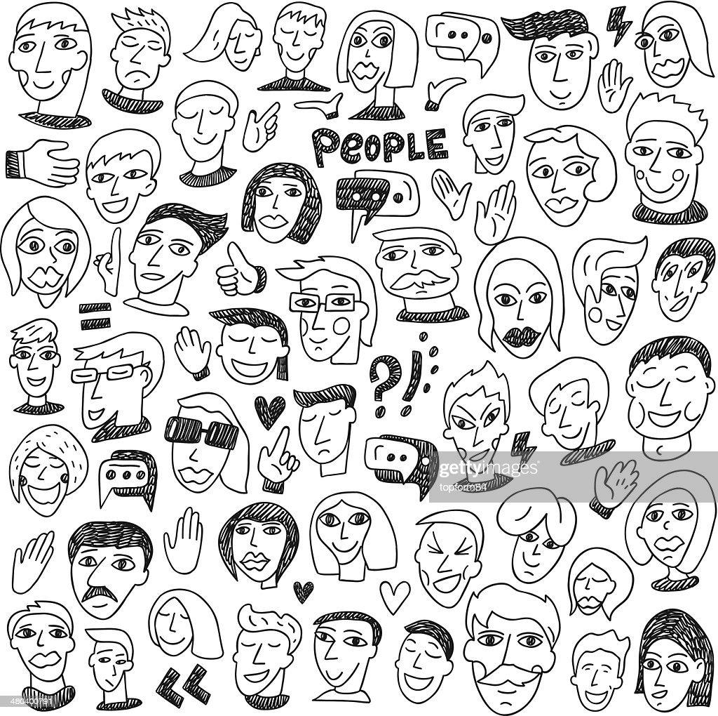 Faces - big doodles collection