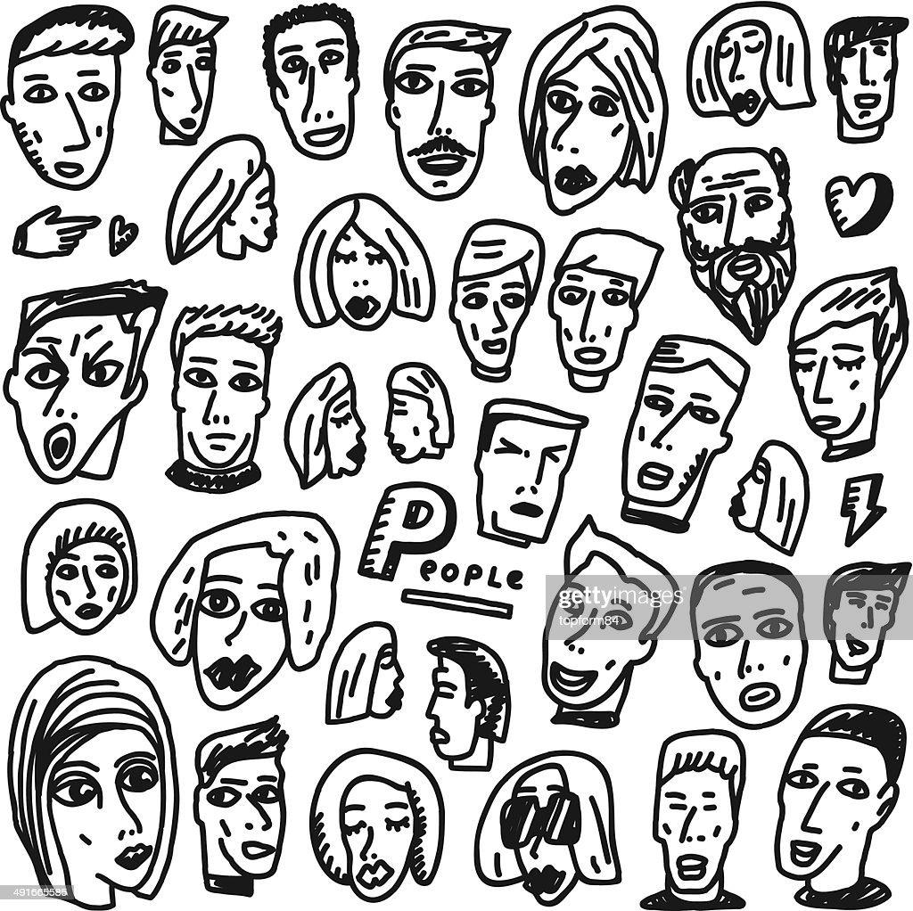 Faces - doodles collection